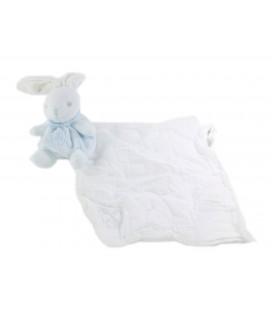 Doudou mouchoir tissu blanc Lapin bleu Kaloo Creations Tendres et douces 2016