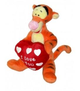 Doudou peluche Tigrou coeur rouge I love you Disney Nicotoy 18 cm