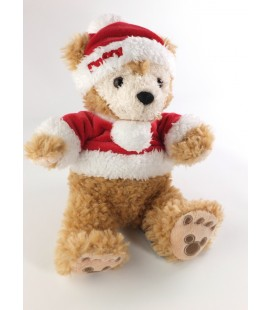 Peluche doudou ours DUFFY Pull bonnet rouge Pere Noël 30 cm - COLLECTOR !