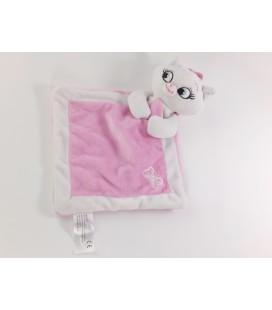 Doudou plat rose blanc noeud Marie Les Aristochats Disney Nicotoy Simba