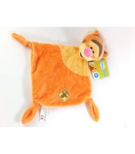 Doudou plat Tigrou jaune orange Etiquette Disney Simba 578/9978