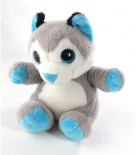 Doudou peluche chien Husky gris bleu blanc Petillous Gipsy 20 cm