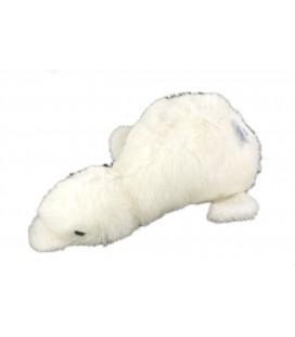 Ancienne peluche Canard blanc Jacadi grelot 26 cm
