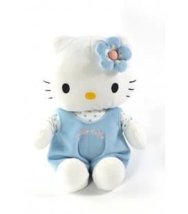 Peluche doudou Hello Kitty salopette bleue Sanrio Jemini 2009