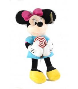 Peluche doudou Minnie 45 cm Sucette PTS SRL Disney robe bleue