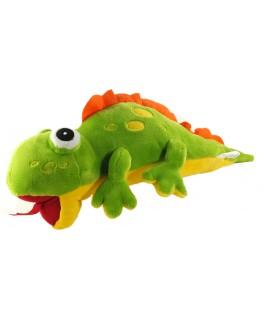 Grande peluche XXL 70 cm Cameleon Gecko Lesard Vert jaune orange Best Made