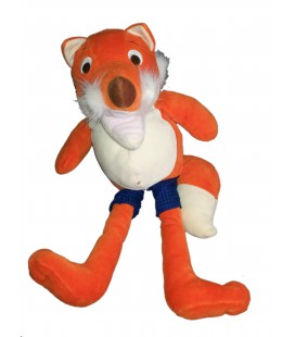 Peluche Doudou Renard orange LATITUDE marionnette geante 50 cm Voir description