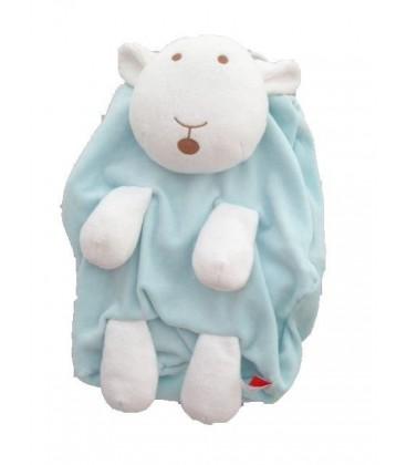 Doudou peluche RaNGE PYJaMa Mouton bleu ciel TEX Carrefour 38 cm