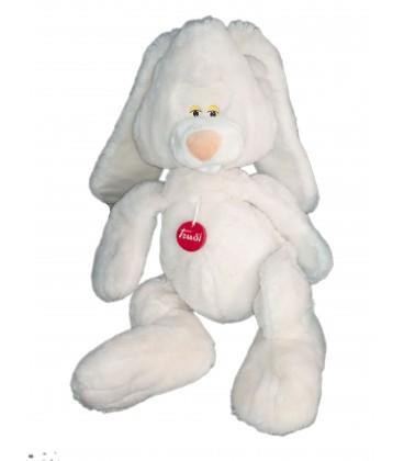 Grande peluche Lapin blanc Trudi 60 cm