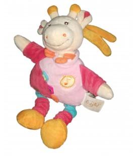 Doudou peluche musicale girafe rose Babynat Baby Nat 24 cm