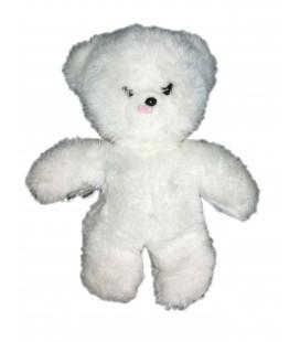 Doudou peluche Ours blanc Boulgom 21 cm