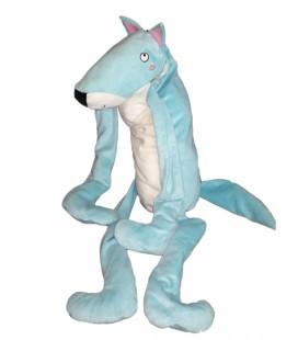Peluche doudou Loup chien bleu blanc IKEA 65 cm