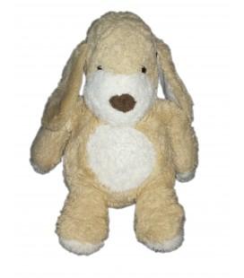 Peluche doudou chien lapin beige blanc nez marron Boulgom 36 cm