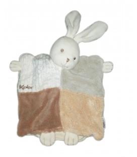 Doudou marionnette lapin blanc beige sable Kaloo