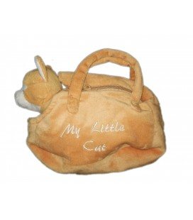 Peluche doudou chat beige rouix sac a main My little Cat Zeeman 25 cm