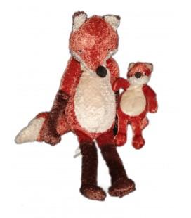 Peluche doudou Renard roux marron et son bébé IKEA - Kappar Rav - 48 cm