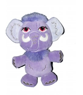 Peluche Doudou Elephant mammouth mauve Monster High Gipsy 24 cm
