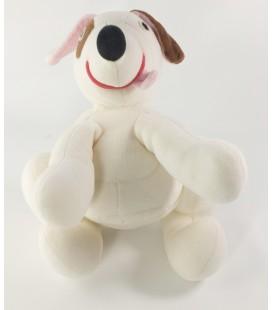 Peluche doudou chien blanc marron poche Latitude 26 cm