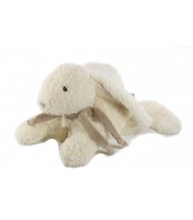DOUDOU ET COMPAGNIE Lapin blanc bonbon taupe 30 cm