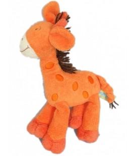 Doudou girafe orange ORCHESTRA - H 26 cm