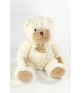 Peluche doudou ours Histoire d'Ours blanc beige 25 cm