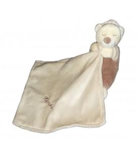 Doudou ours marron Mouchoir blanc marron Kimbaloo 16 cm