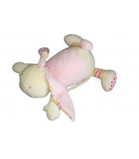 Doudou peluche Lapin rose Babysun Bubbly Crew 32 cm - Vendu seul