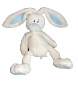Doudou Lapin blanc bleu Aloha 30 cm