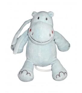 Doudou musical peluche 22 cm Hippopotame BEBE 9
