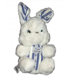 Peluche doudou Lapin blanc bleu 22 cm Tartine et Chocolat