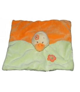 Doudou Plat Canard vert orange Dou Kidou Jogystar