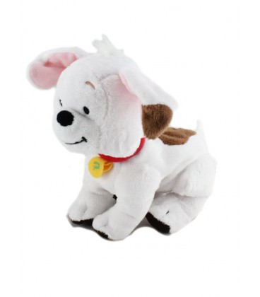 Doudou chien blanc marron BUSTER chien de Winnie Disney 18 cm