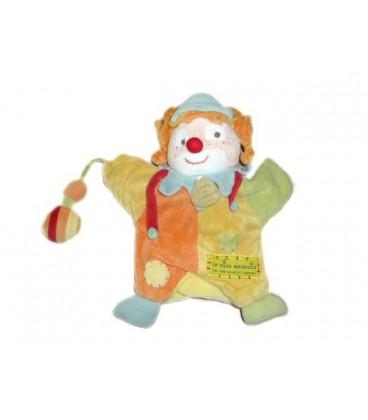 DOUDOU ET COMPaGNIE - Marionnette Clown Le rire du Médecin orange vert jaune
