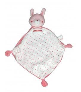Doudou plat lapin blanc rose Mouchoir Etoiles Hibou chouette Mots d Enfants chez vous des demain
