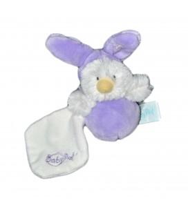 Mini capuche Peluche doudou Poussin deguise lapin mauve 10 cm Baby Nat BN058