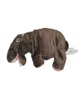 Doudou peluche hippopotame gris rose IKEA 65 cm Klappar Flodhast Avec étiquettes en tissu