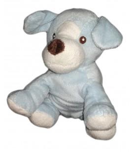 Peluche doudou chien bleu blanc marron Maxita assis 18 cm