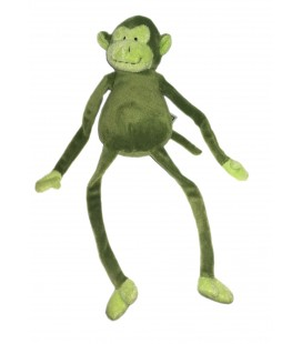 Doudou peluche Singe vert Longues pattes Nature Planet 32 cm
