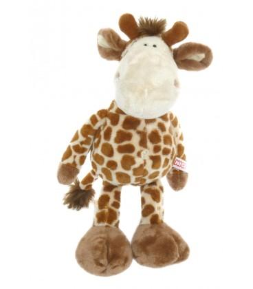 Peluche doudou Girafe marron beige NICI H 30 cm