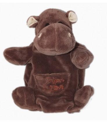 Doudou HIPPOPOTAME Histoire d'Ours Marionnette