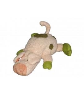 Petit doudou Cochon rose vert 16 cm NICI