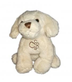 Peluche doudou chien beige clair 16 cm sonore aboie couine Les Waffies Gispy