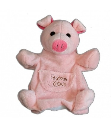 Doudou Cochon rose Histoire d Ours Marionnette