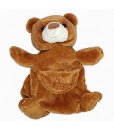 Doudou ours marron Histoire d Ours Marionnette