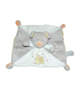 Doudou plat ours blanc gris jaune Vetir 579/8049