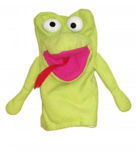 Doudou marionnette Lezard Grenouille Monstre IKEA 24 cm