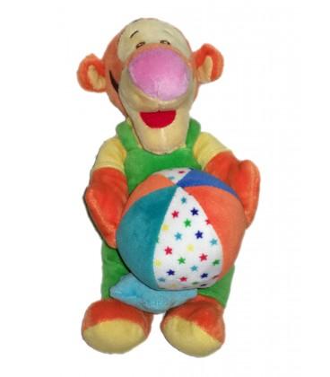Peluche doudou musical Tigrou ballon etoile 587/3063 Disney Nicotoy 25 cm