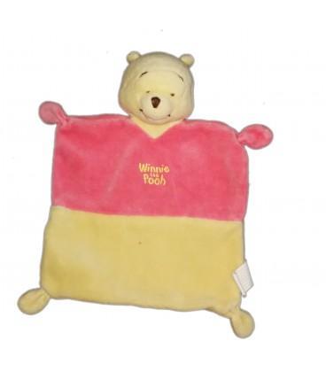 Doudou plat Winnie the Pooh jaune rose Nicotoy 587/6485