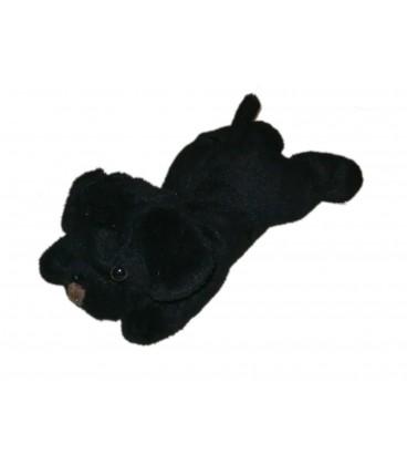 Doudou chien noir Carrefour Max & Sax 20 cm