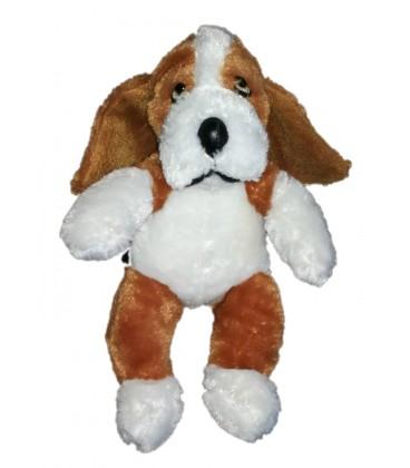 Peluche chien marron noir blanc Beaggle Animaland 28 cm